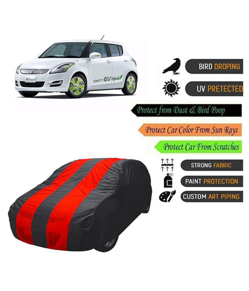 QualityBeast Car Body Cover for  Maruti Suzuki Swift Hybrid Mahroon Black