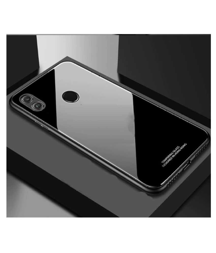 Xiaomi Redmi Note 5 Pro Glass Cover O4U - Black Glass Case