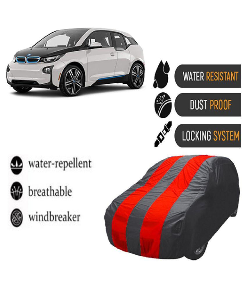 QualityBeast Car Body Cover for  BMW i3 Mahroon Grey