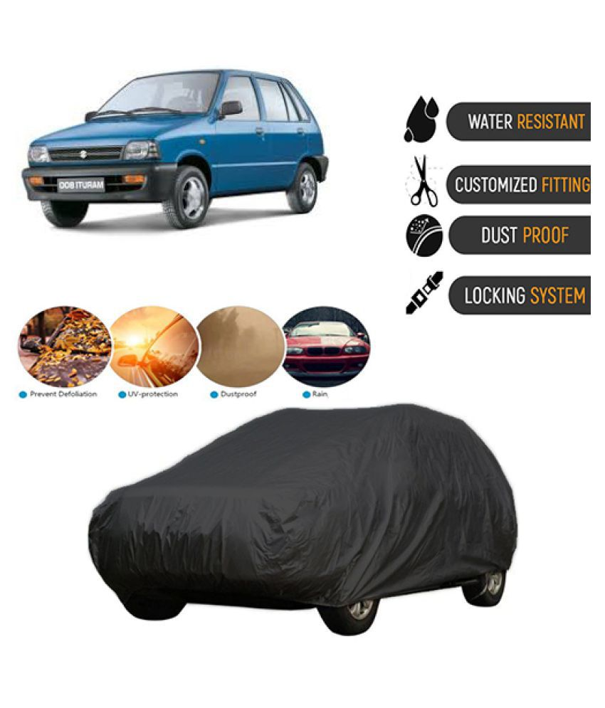 QualityBeast Car Body Cover for  Maruti Suzuki 800 [2008-2014] Black