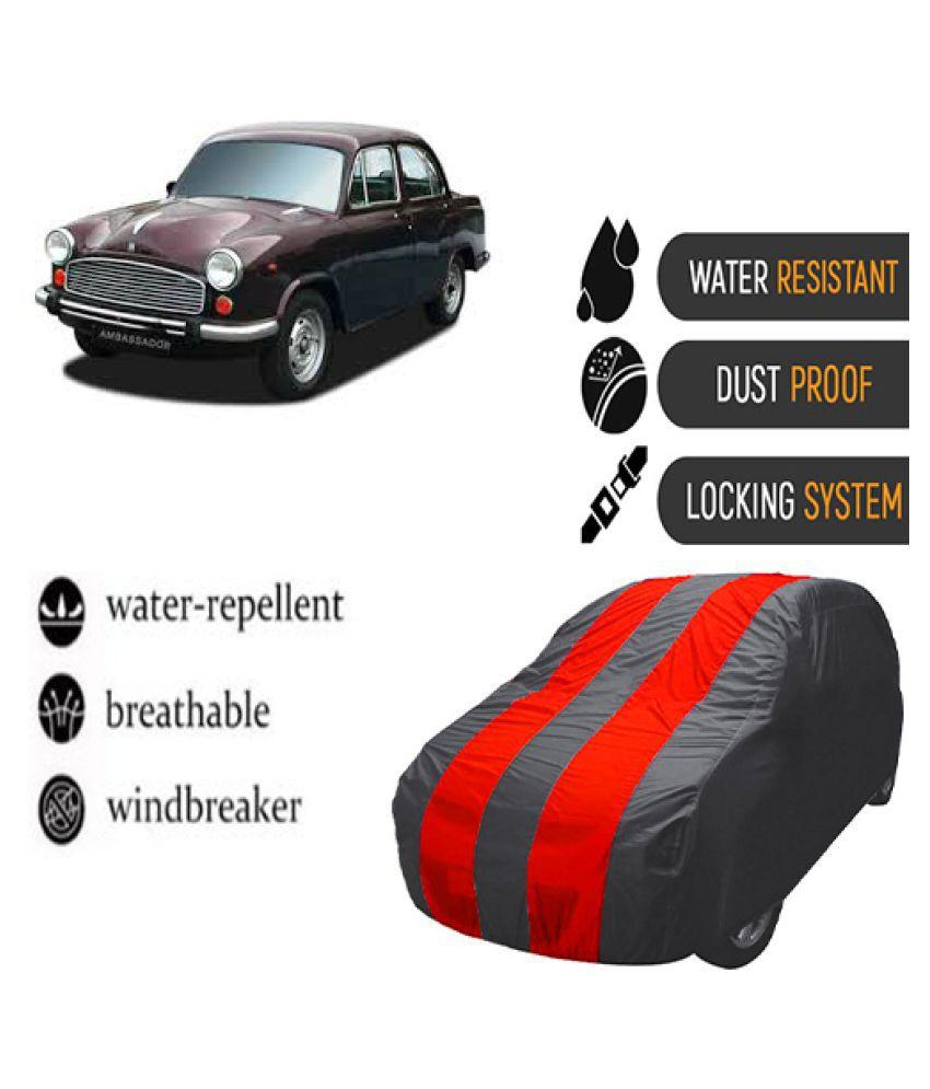 QualityBeast Car Body Cover for  Hindustan Motors Ambassador Mahroon Grey