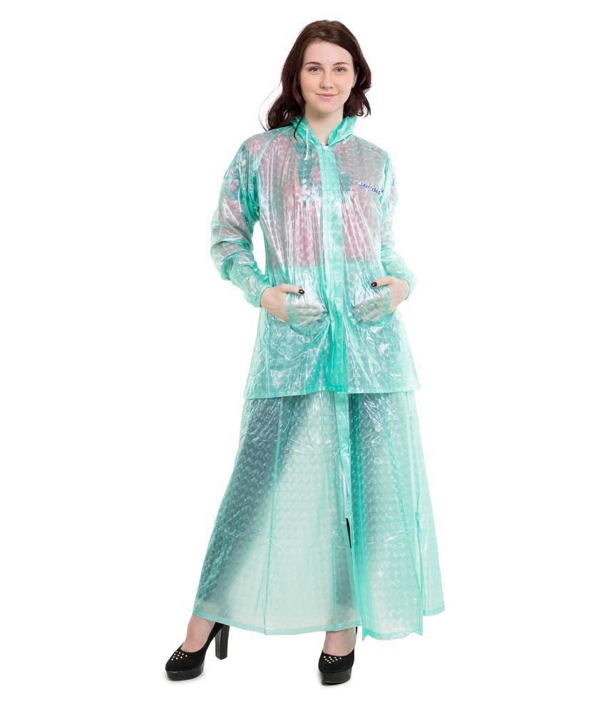 Burdy PVC Raincoat Set - Green