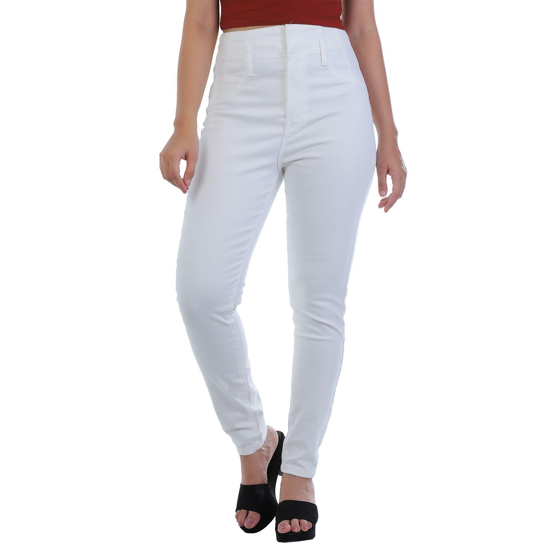 Malachi Denim Lycra Jeans - White