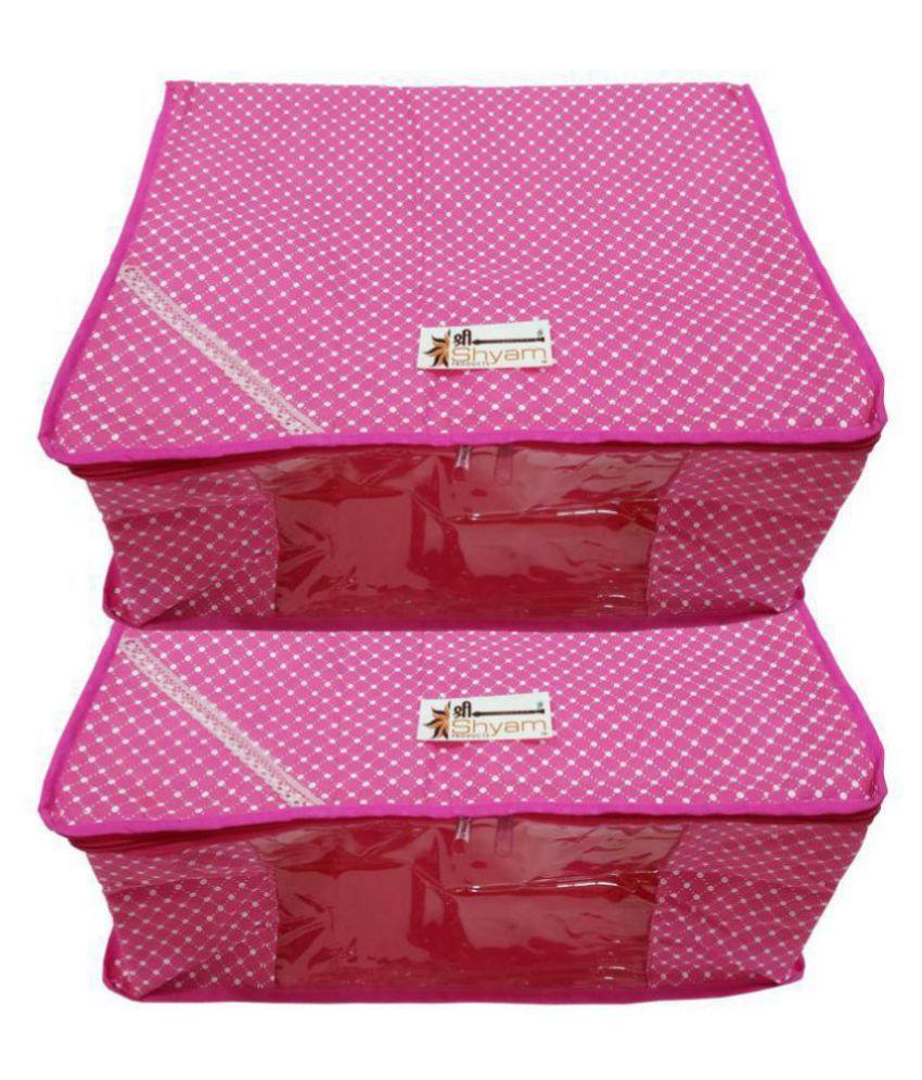 Shree Shyam Products PeachPuff Saree Covers - 2 Pcs