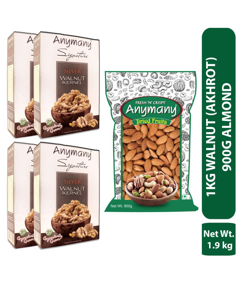Anymany Almond 900 g with Silver Walnut Kernels 1 Kg