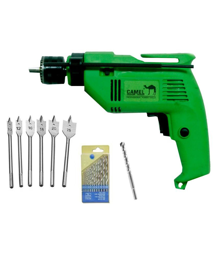 Camel - CID13A 500W 13mm Corded Drill Machine with Bits