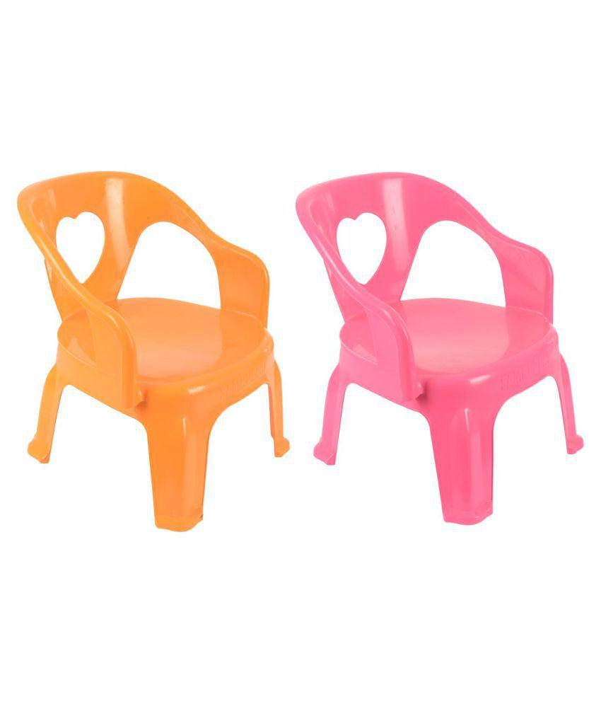 Fabulous Samruddhi Chintu Plastic Kids Chair Combo Yellow Pink Pack Of 2 Creativecarmelina Interior Chair Design Creativecarmelinacom