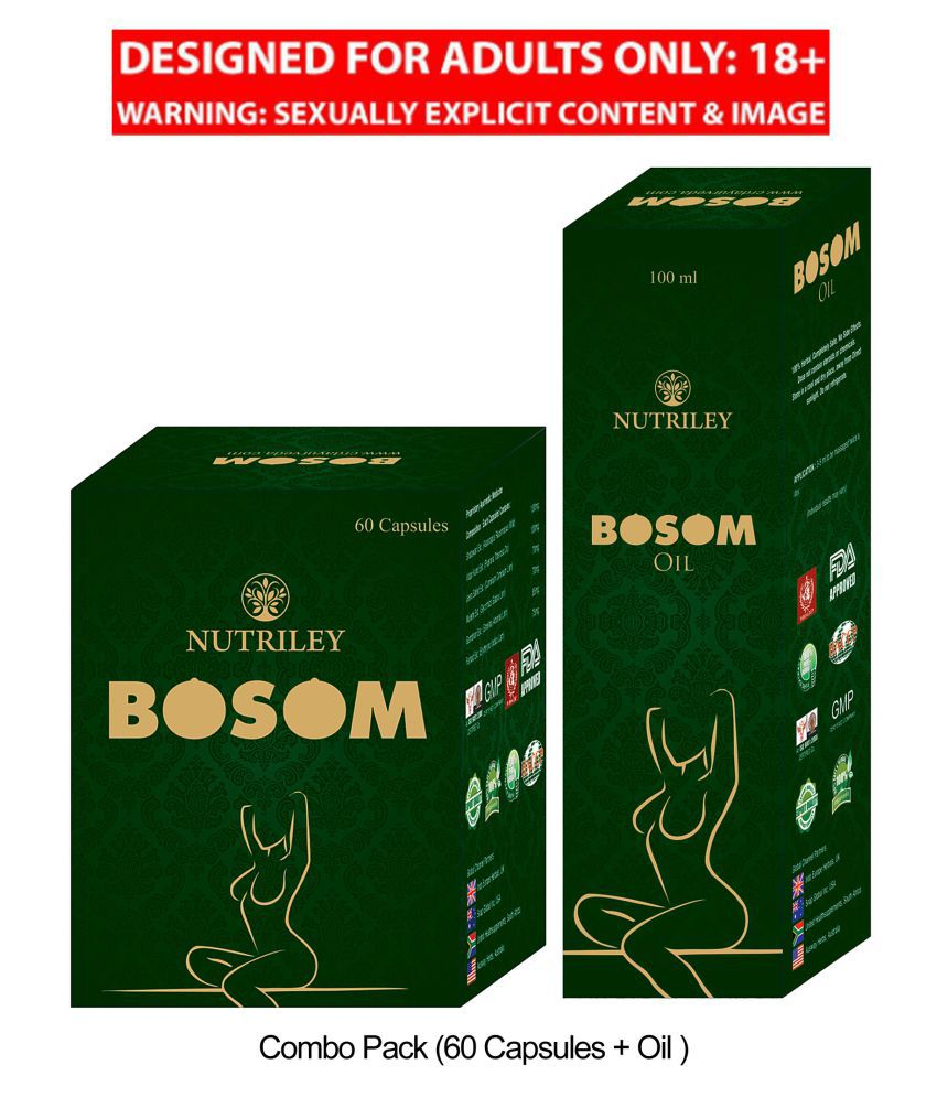 BOSOM AYURVEDIC BREAST ENLARGEMENT OIL & CAPSULES (COMBO PACK)