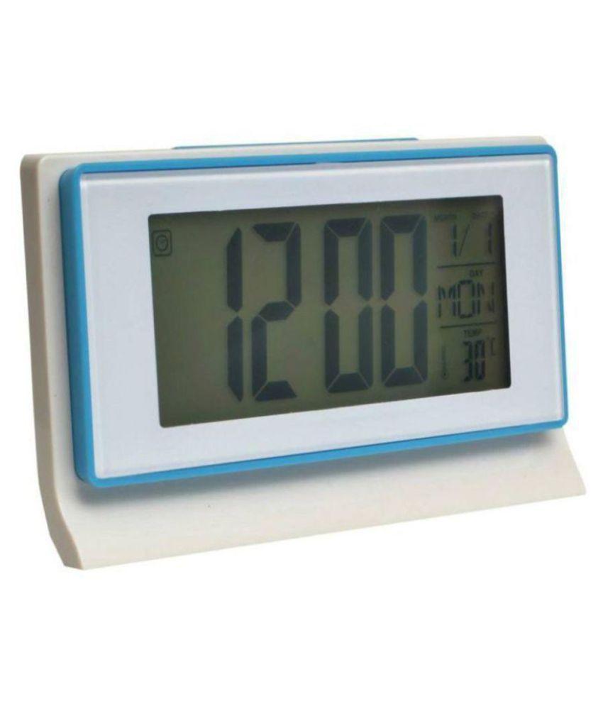 T Global DS-3601 Voice Control Back-light LCD Alarm Clock Weather Monitor Calendar Decor Desktop Table Clock With Timer Sound Sensor Temperature