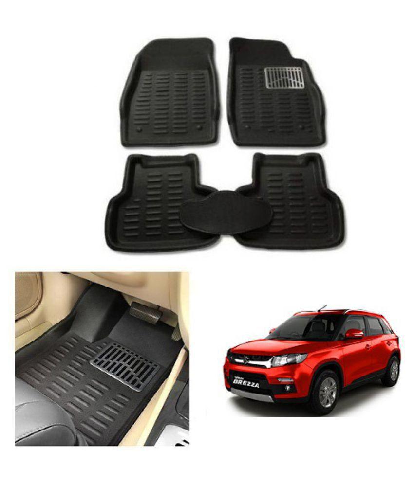 Neeb Traders Car Carpet Black Car Floor/Foot Mats for Maruti Suzuki Vitara Brezza 10-13
