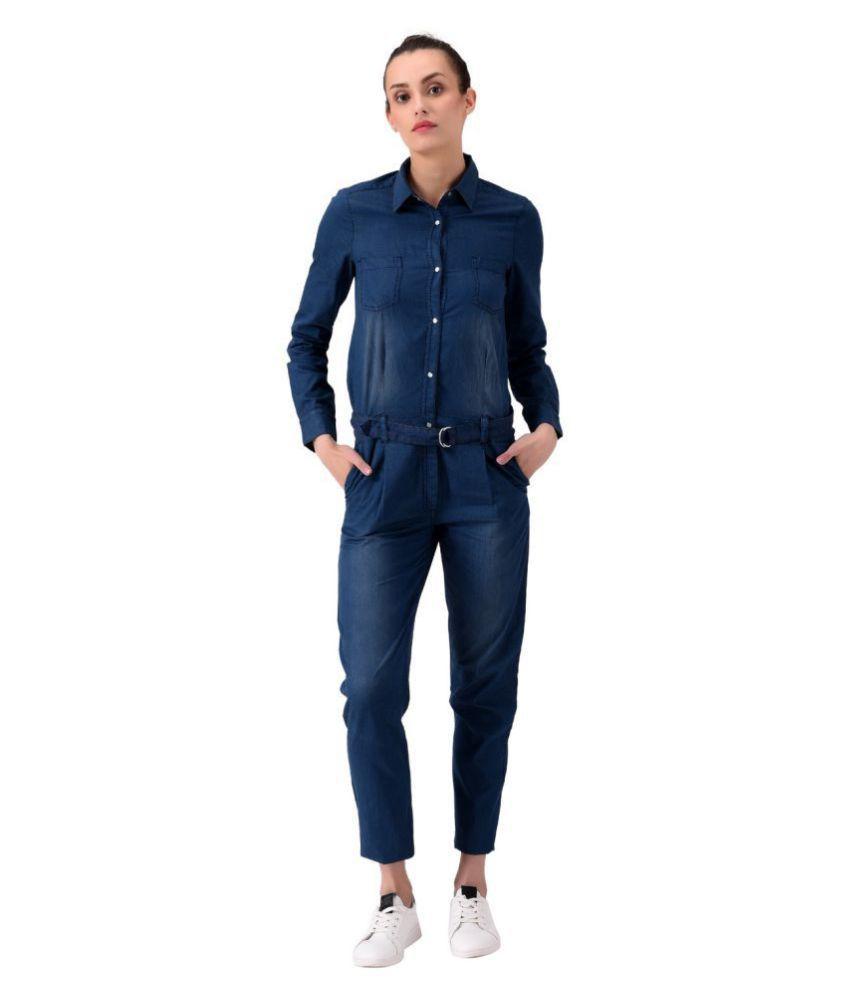 Mansi Collections Blue Cotton Jumpsuit