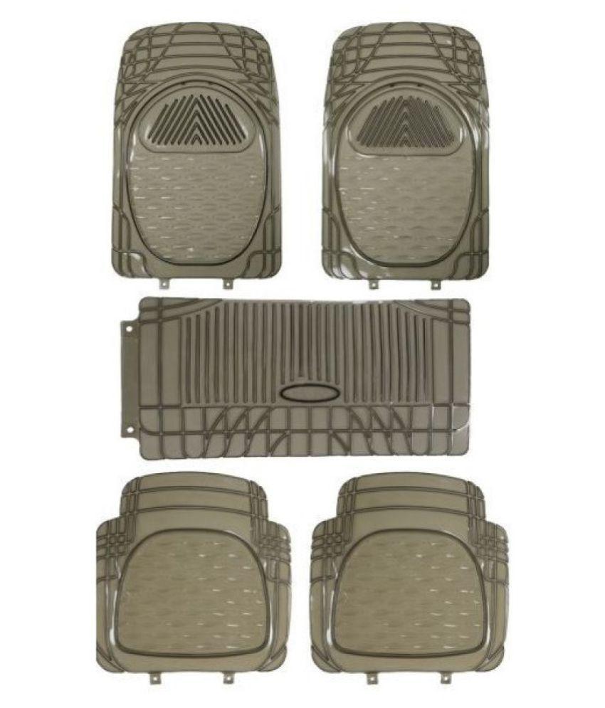 Autofetch Car Floor/Foot Mats (Set of 5) Smoke for Fiat Punto Pure