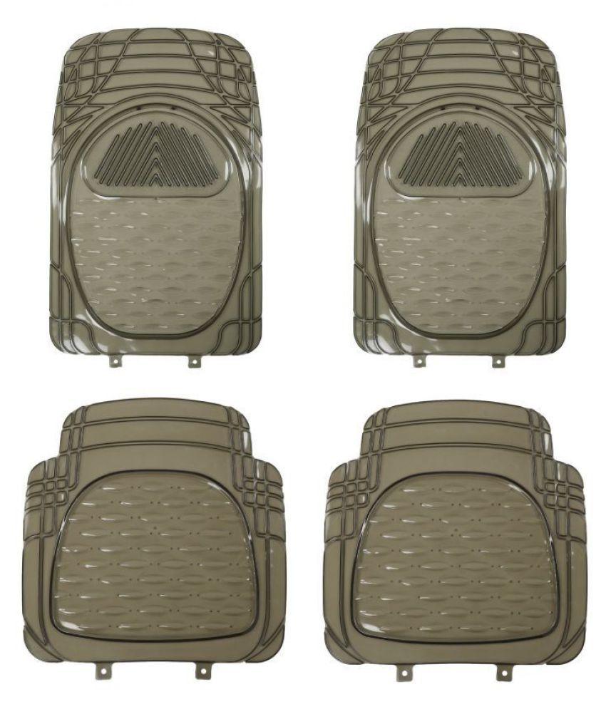 Autofetch Car Floor/Foot Mats (Set of 4) Smoke for Honda City 2017