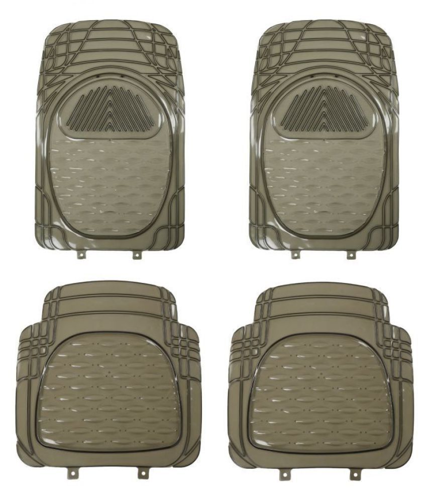 Autofetch Car Floor/Foot Mats (Set of 4) Smoke for Mahindra XUV 500 (2012-2014)
