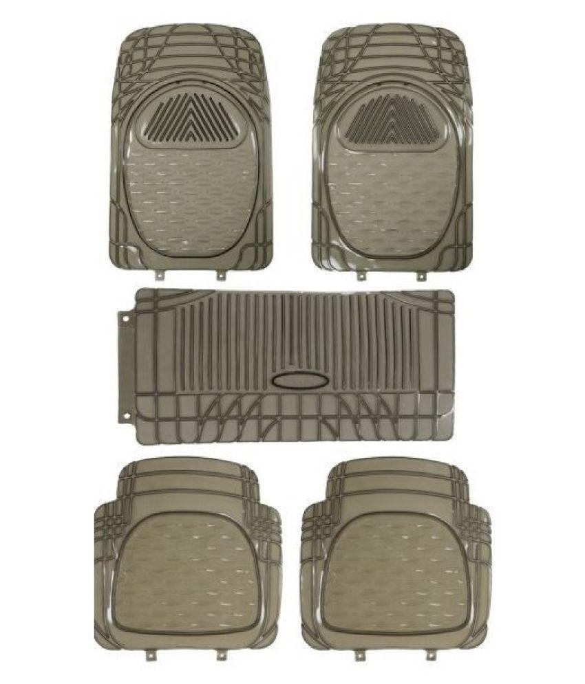 Autofetch Car Floor/Foot Mats (Set of 5) Smoke for Hyundai Verna 2017
