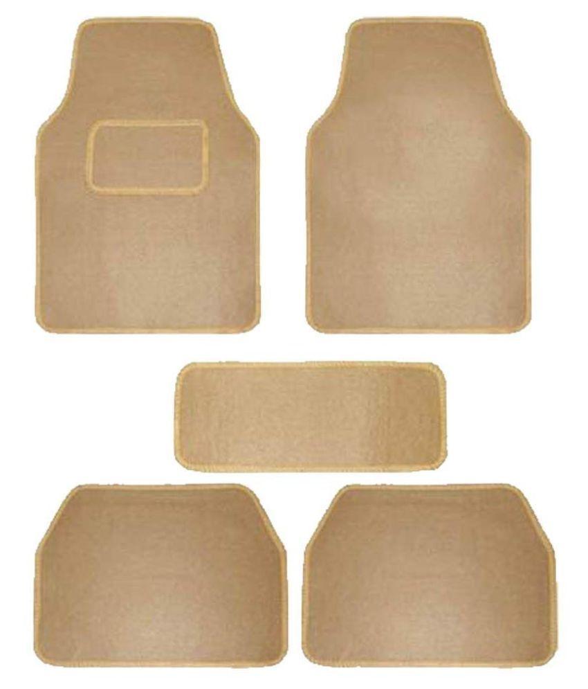 Autofetch Carpet Car Floor/Foot Mats (Set of 5) Beige for Hyundai Getz