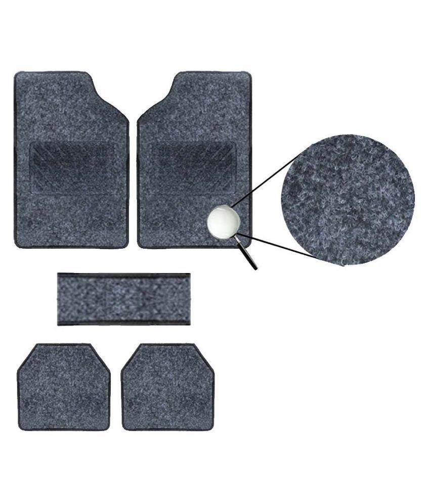 Autofetch Carpet Car Floor/Foot Mats (Set of 5) Black for Maruti Vitara Brezza