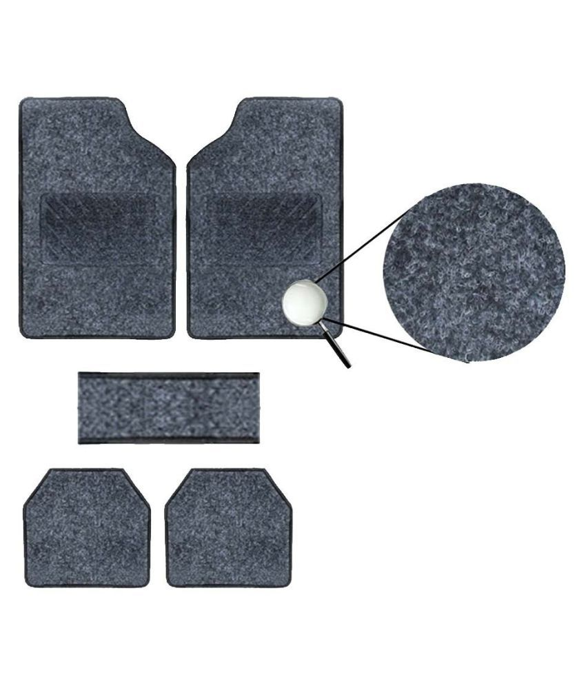Autofetch Carpet Car Floor/Foot Mats (Set of 5) Black for Tata New Tigor