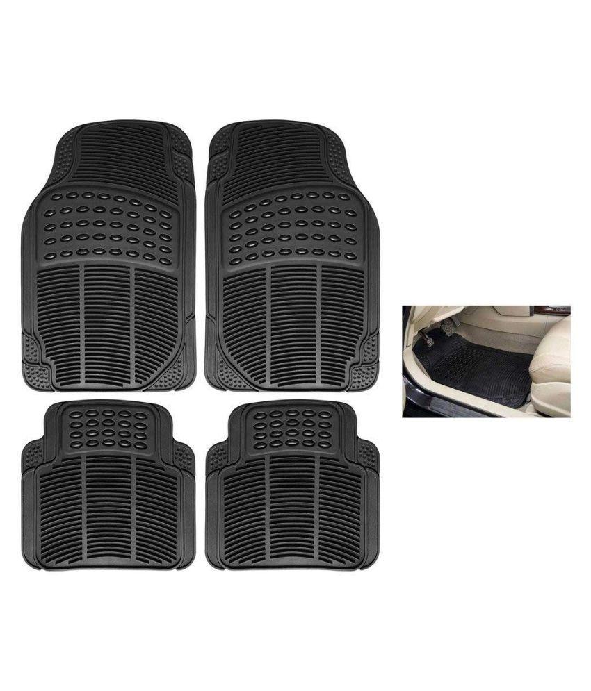 Autofetch Rubber Car Floor/Foot Mats (Set of 4) Black for Hyundai Verna Fluidic