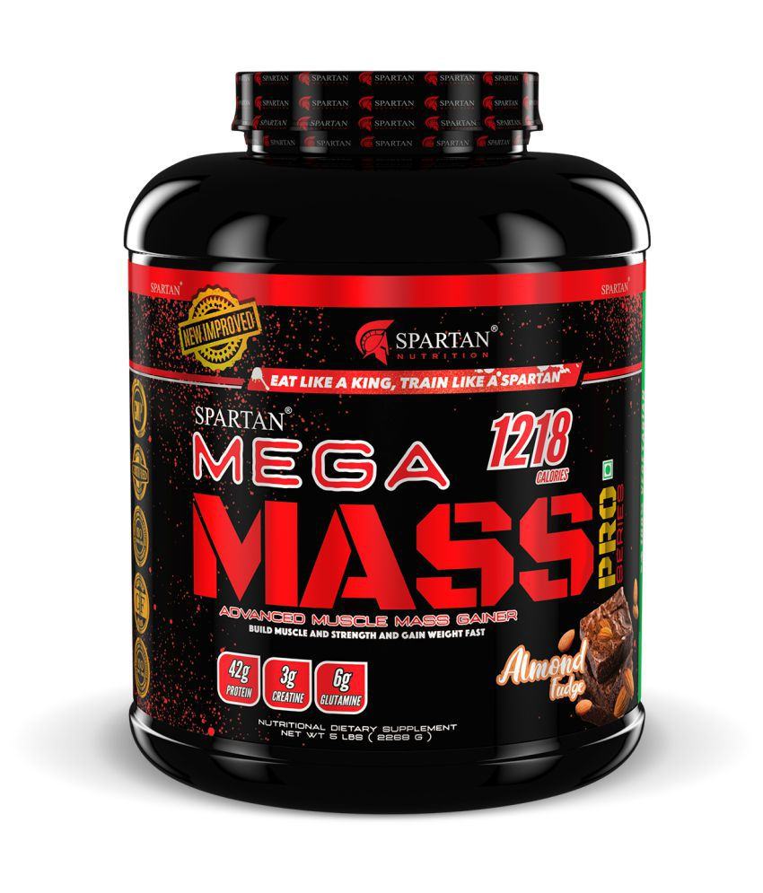 Spartan Mega Mass PRO Series Almond fudge 5 lb Weight Gainer Powder