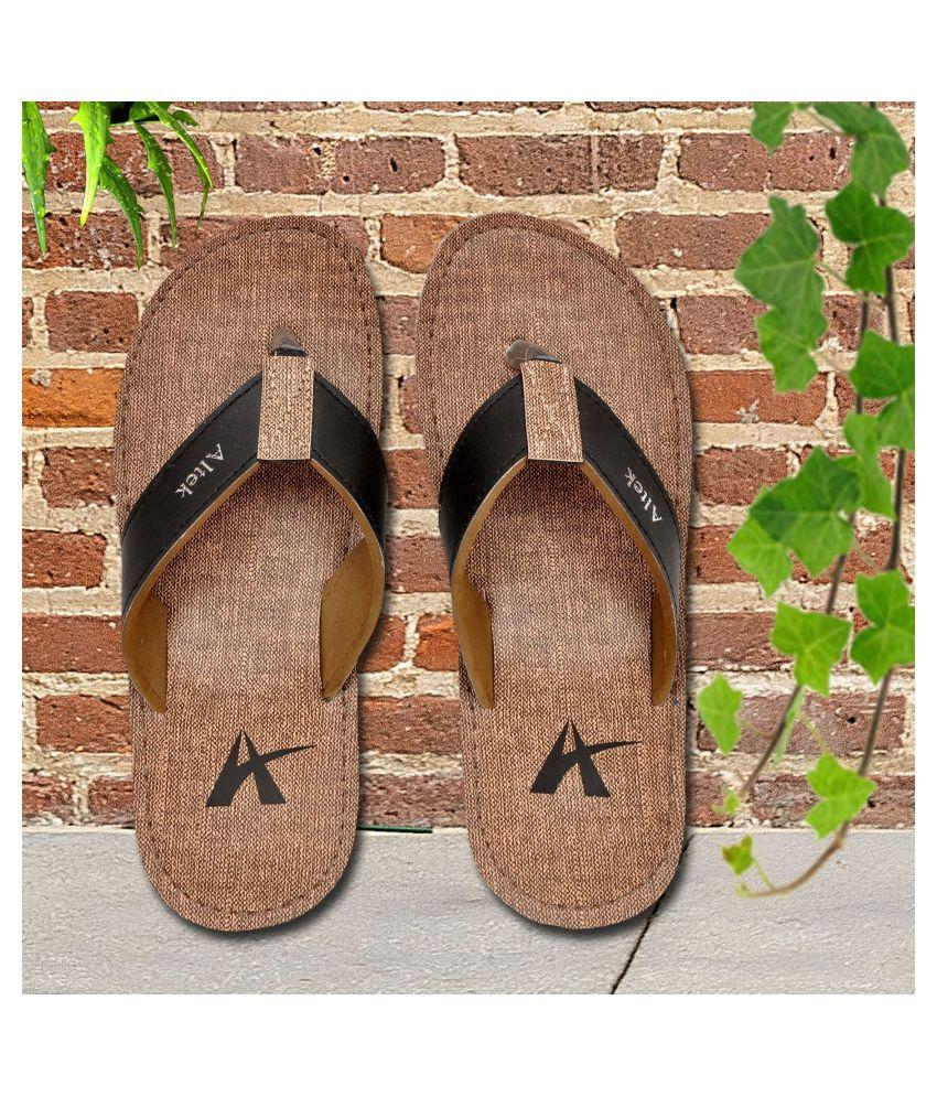 Altek Brown Daily Slippers