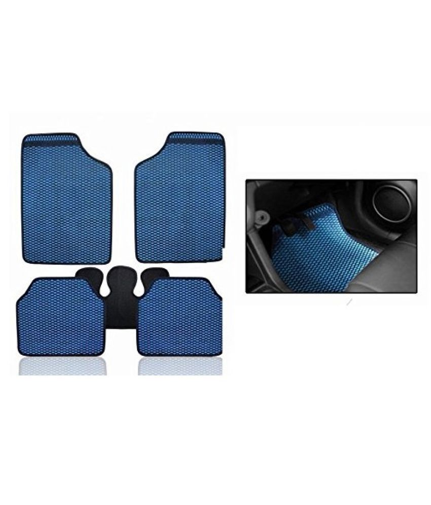 Autofetch Car Eclipse Odourless Floor/Foot Mats (Set of 5) Blue for Maruti Vitara Brezza