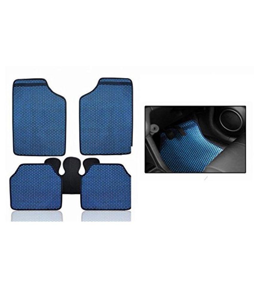 Autofetch Car Eclipse Odourless Floor/Foot Mats (Set of 5) Blue for Renault Fluence