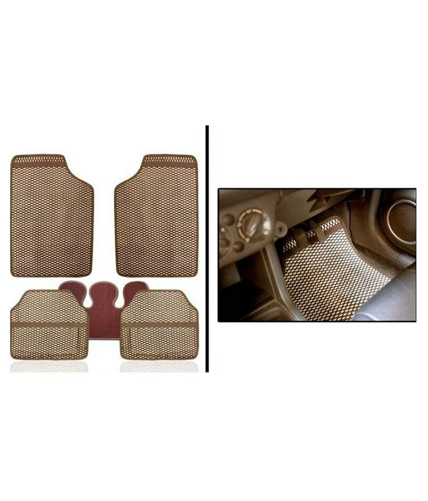 Autofetch Car Eclipse Odourless Floor/Foot Mats (Set of 5) Beige for Ford Fiesta classic