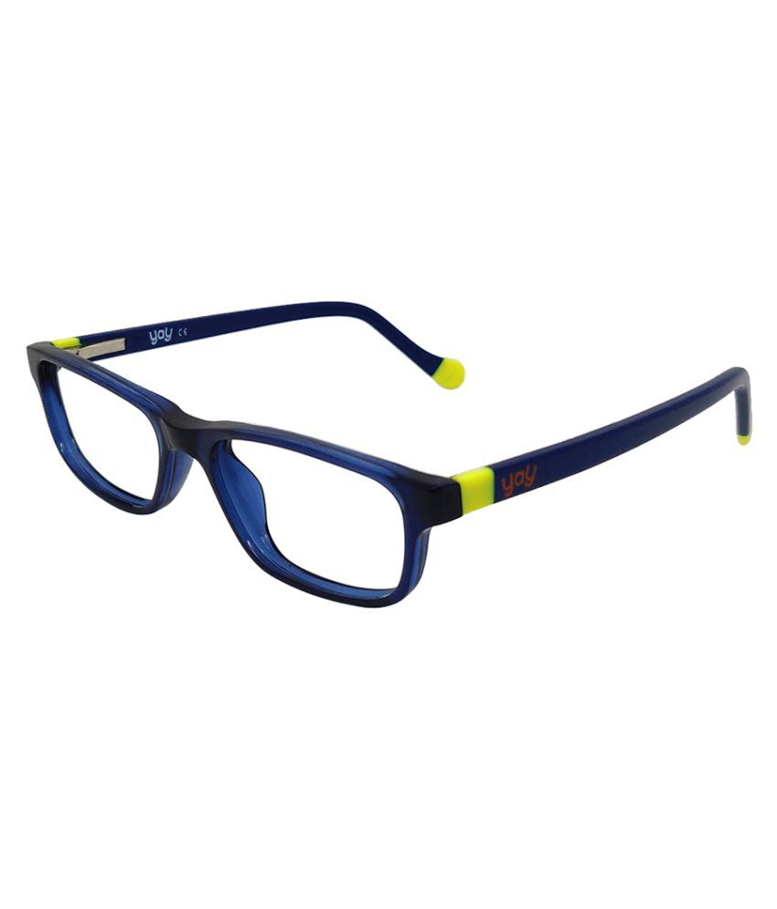 YAY Hades Unisex Rectangle Acetate Blue Color Kids Spectacle Frame by-Enrico