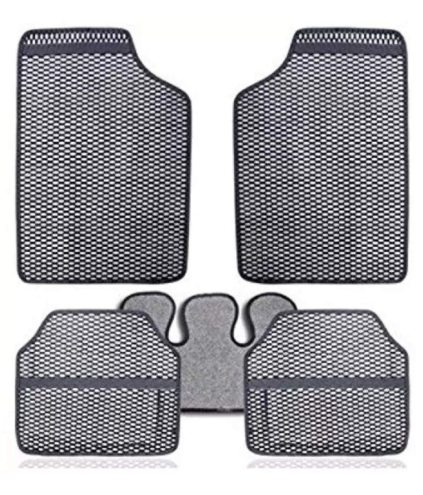 Autofetch Car Eclipse Odourless Floor/Foot Mats (Set of 5) Grey for Maruti Alto