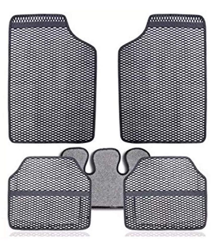 Autofetch Car Eclipse Odourless Floor/Foot Mats (Set of 5) Grey for Maruti Eco