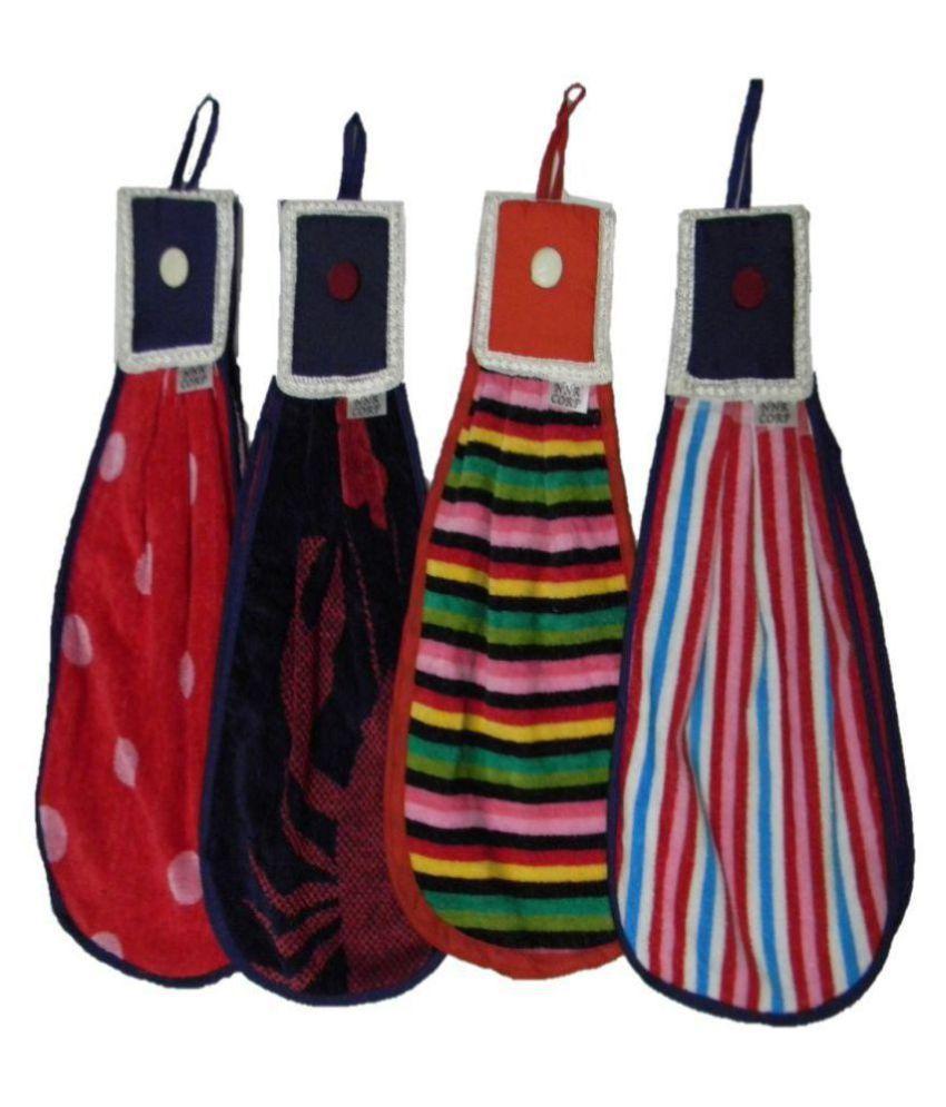 Nnr Set of 4 24x24 Velvet Kitchen Towel