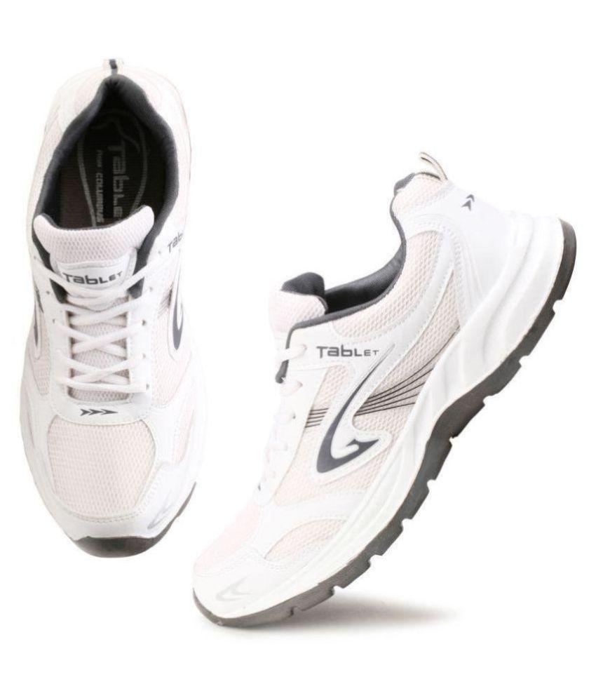 Columbus White Training Shoes