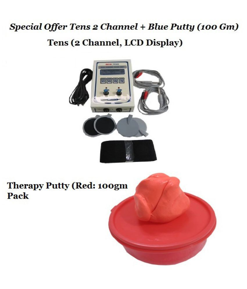 Acco 2 Channel Tens with Exercise Putty - Medium Soft