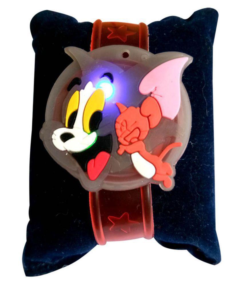 Kids Rakhi Tom & Jerry Belt with LED light Multicolour Pack of 1