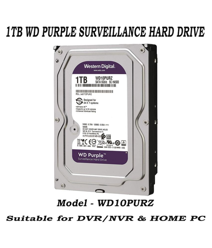 Western Digital WD10PURZ - 85U8XYO 1 GB Internal Hard Drive Internal Hard drive