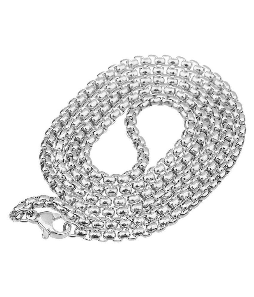 1Pc Silver Square Pearl Necklace