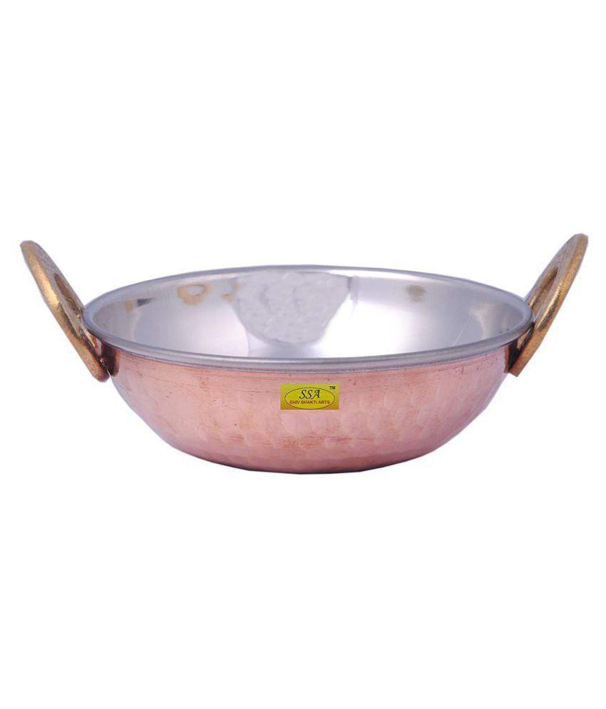 Shiv Shakti Arts Steel Copper Kadhai 1 Piece Cookware Set