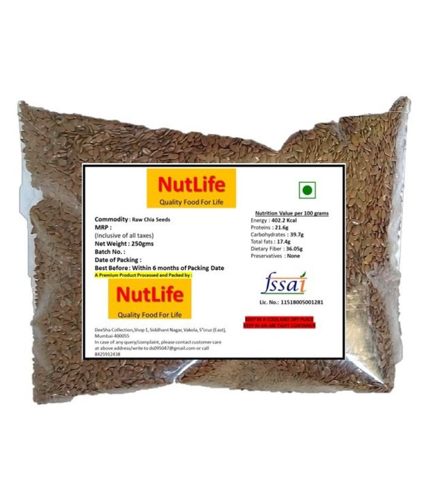 Nutlifefresh Flax Seeds 250 g