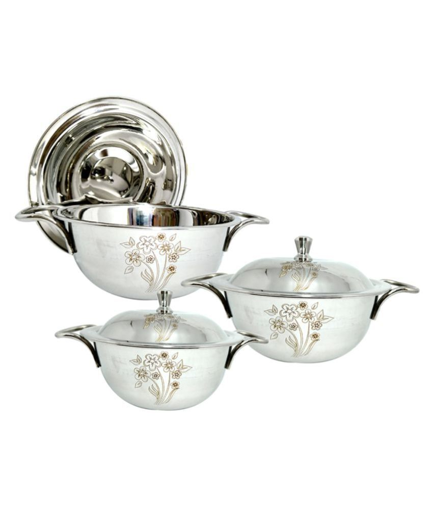 bartan hub Handi set 3 Piece Cookware Set