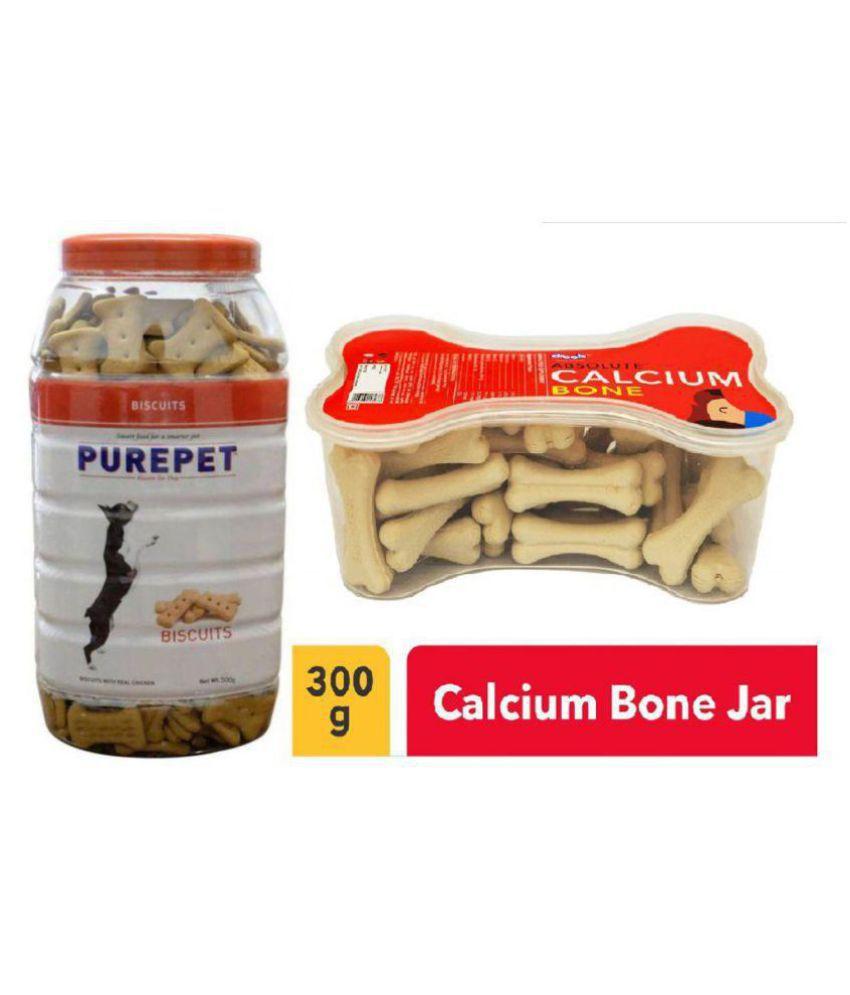 Purepet Biscuit 500grm(Mutton Flavour) Jar+Calcium Bone 20 pcs Jar