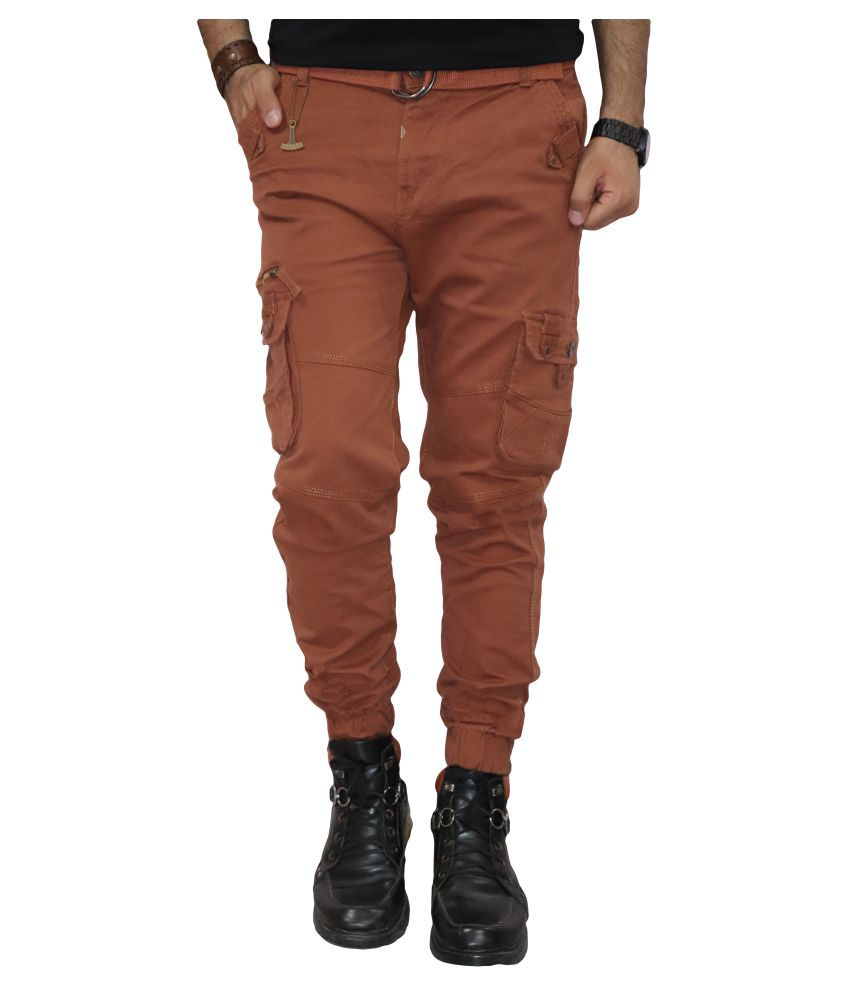 Urban Legends Brown Regular -Fit Flat Cargos