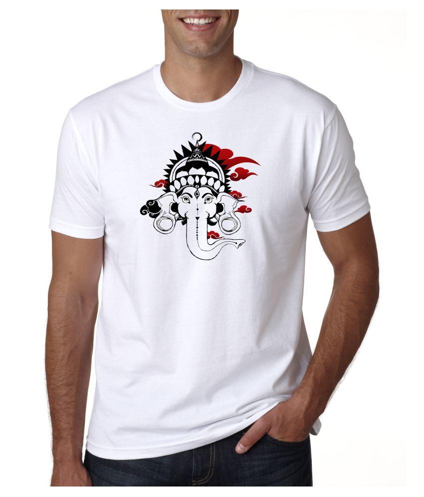 DigiPrint Nylon White Printed T-Shirt