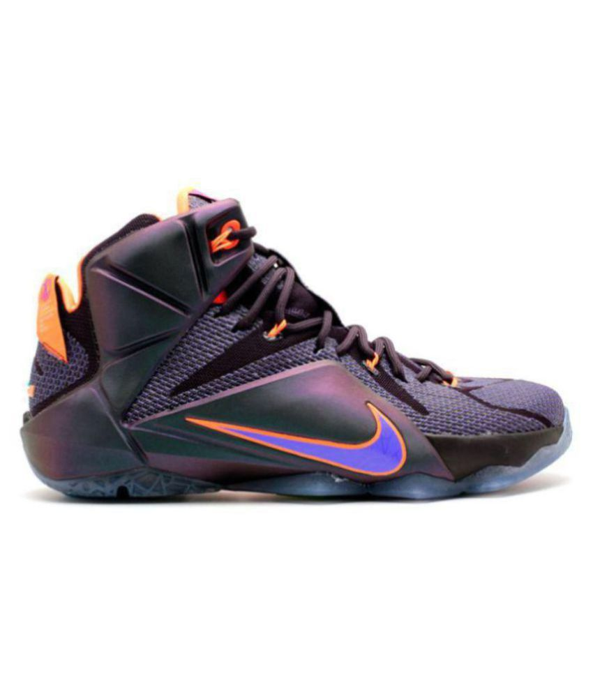 detailed look 80470 0323a Nike Lebron James X12 Purple Basketball Shoes