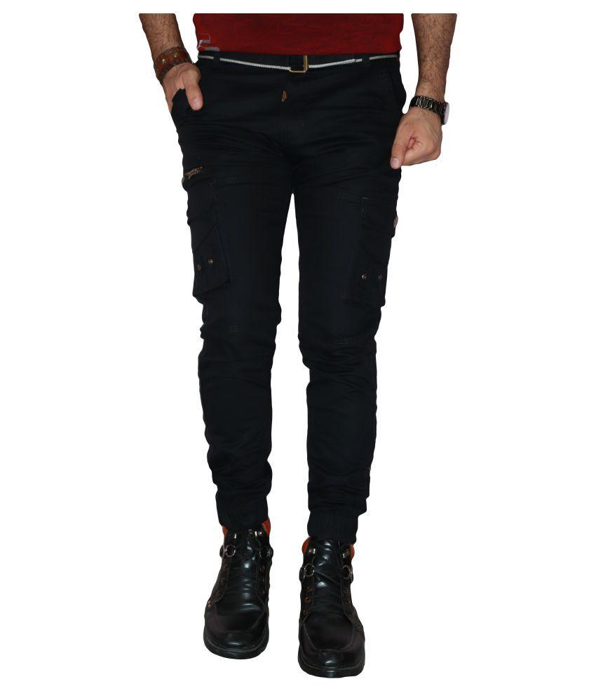 Urban Legends Black Regular -Fit Flat Trousers