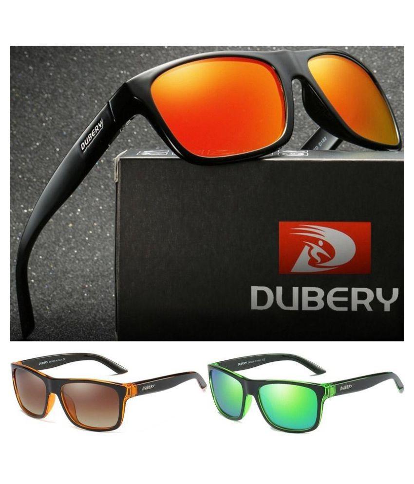 NEW DUBERY Polarized Mens Sunglasses Square Cycling Driving Sun Glasses UV400