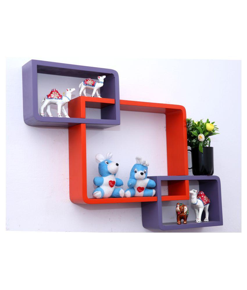 WOOD WORLD Floating Shelves Multicolour MDF - Pack of 1