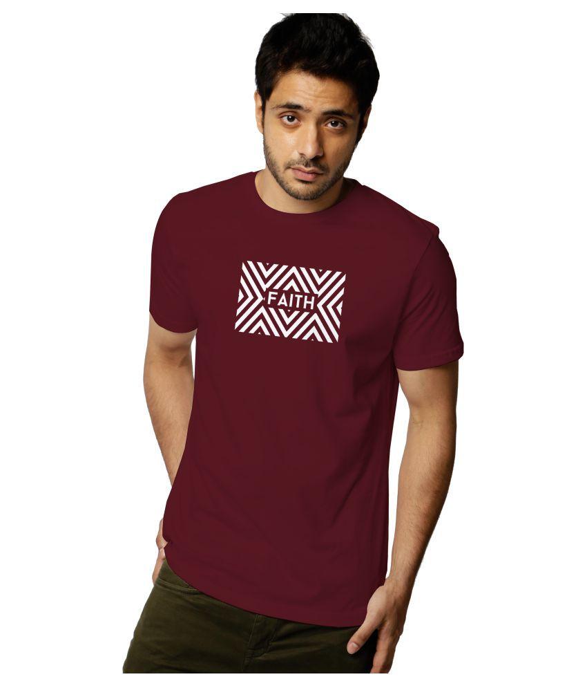 Radicalparadox 100 Percent Cotton Red Printed T-Shirt