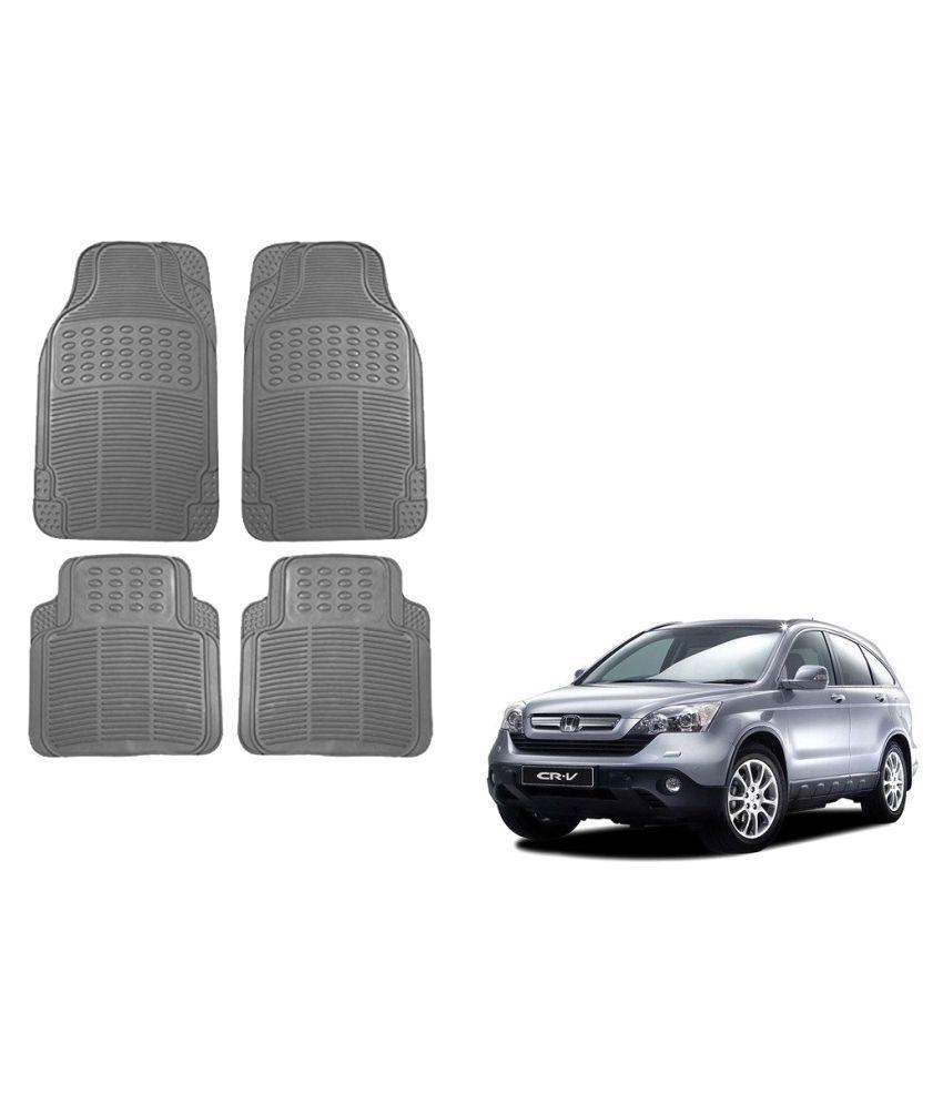 Auto Addict Car Simple Rubber Grey Mats Set of 4Pcs For Honda CR-V