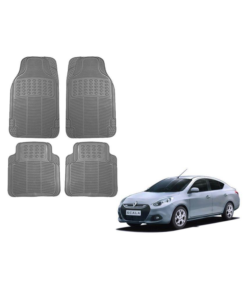 Auto Addict Car Simple Rubber Grey Mats Set of 4Pcs For Renault Scala